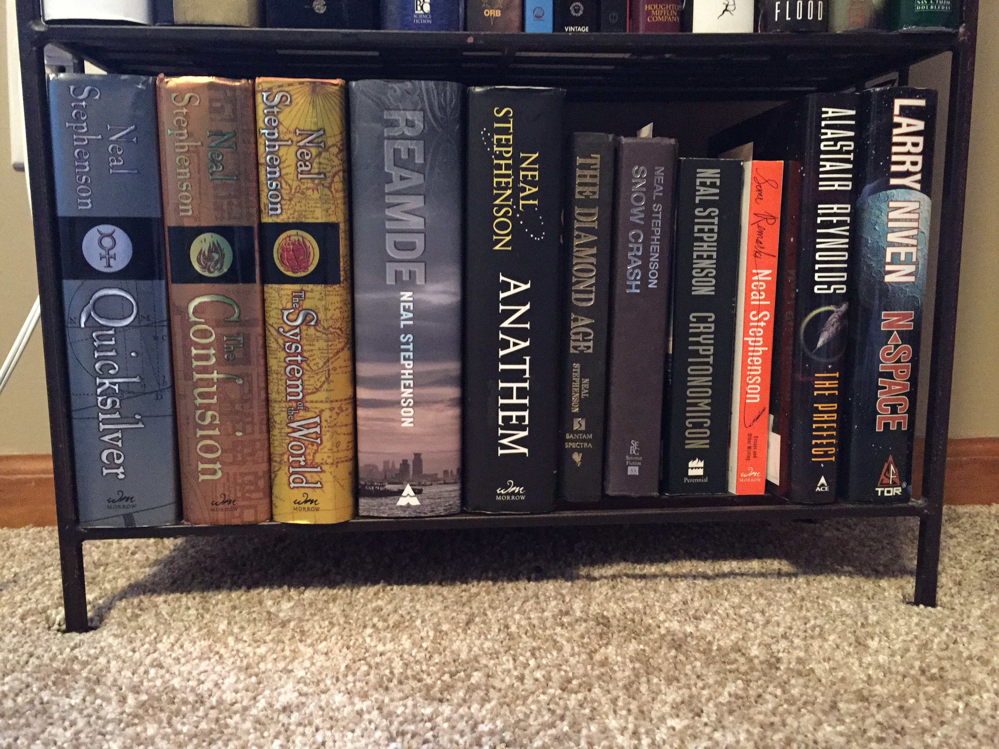 Some Neal Stephenson (i Own Much More Alastair Reynolds And Larry Niven,  But Those Are In Ebook Format, Soooo…